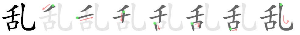 stroke order for 乱