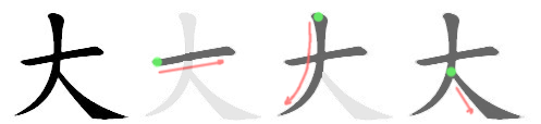 stroke order for 大
