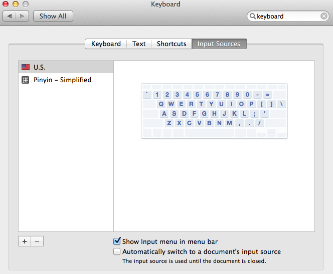 Mac Osx Mountain Lion Mavericks How To Type Chinese Characters